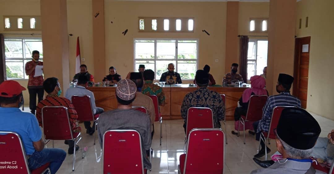 Sosialisasi Perbup 25 Tahun 2020  tentang pelaksanaan New Normal di Kecamatan Pantai Cermin
